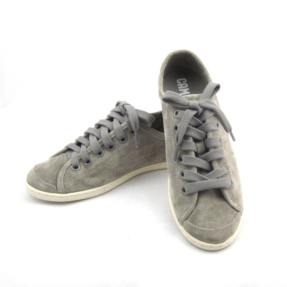 Camper Shoes - Camper gray suede lace-up sneakers Sz 37